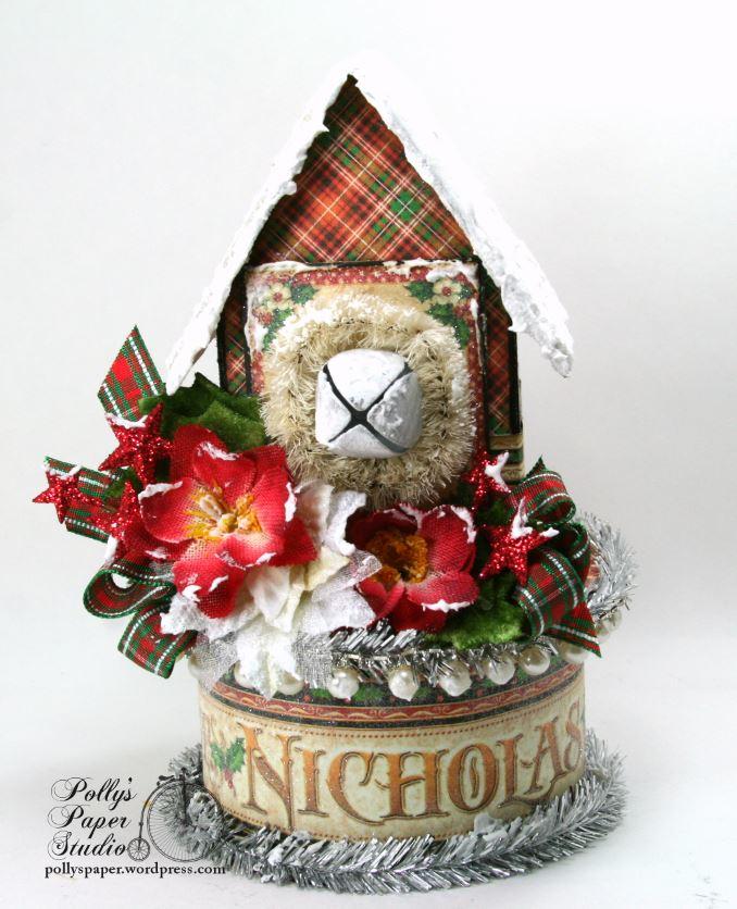 St. Nicholas Christmas House Holiday Home Decor 01