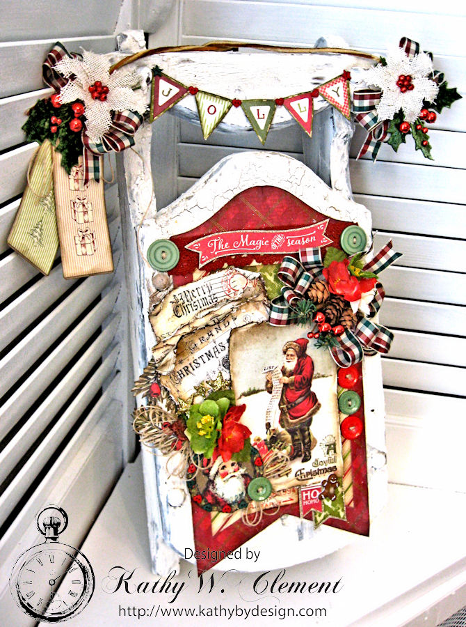 Dashing Through the Snow Altered Sled, by Kathy Clement for Petaloo Authentique Blog Hop Photo 3