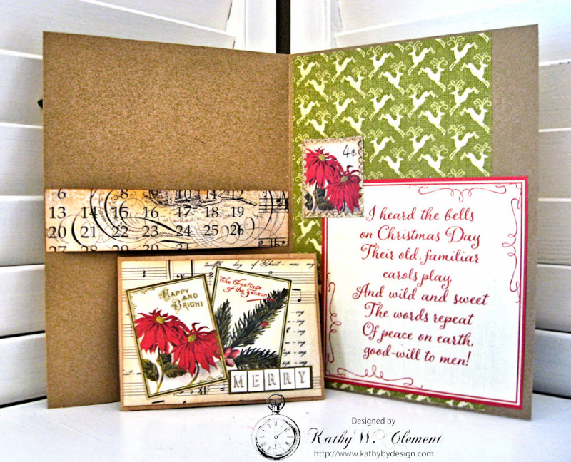 Woodland Christmas Card by Kathy Clement for Petaloo Authentique Blog Hop Photo 2