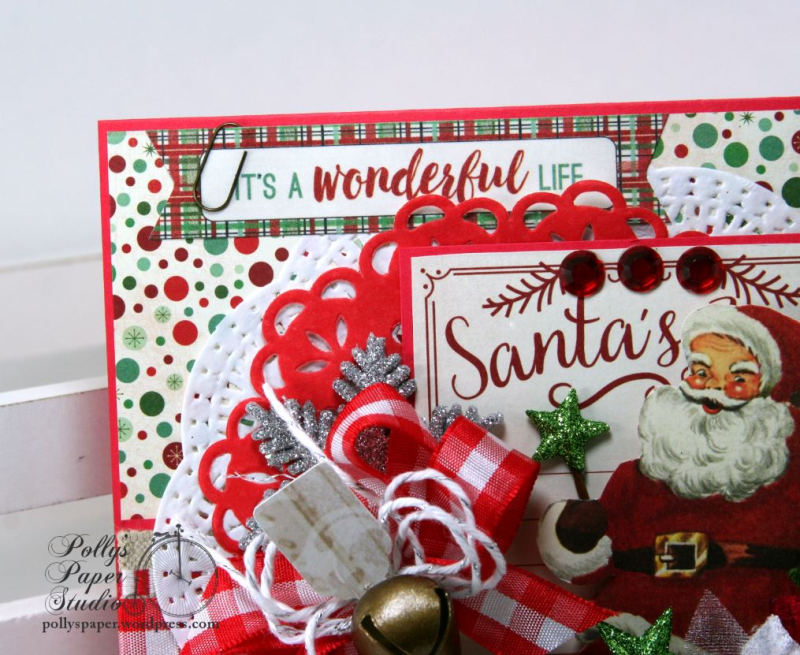 It's a Wonderful Life Christmas Greeting Card Polly's Paper Studio Handmade 04