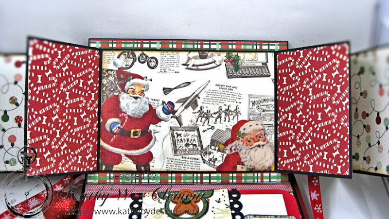 Cookies for Santa Folio, Retro Christmas, by Kathy Clement, Product by Petaloo and Authentique, Photo 7