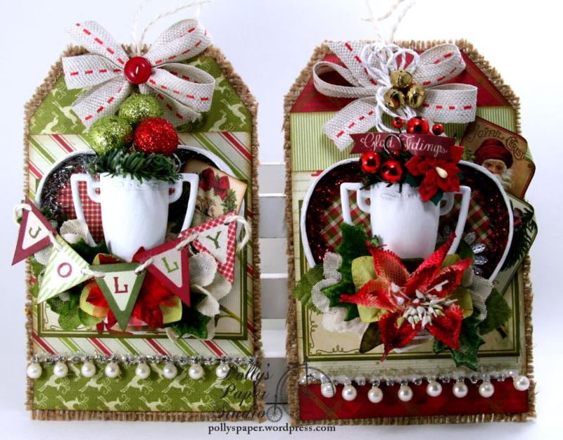 Petaloo-Authentique Christmas Trophy Tags