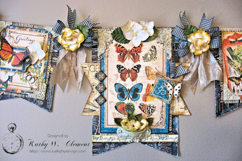 CHA Butterfly Banner, Nature Sketchbook, by Kathy Clement, Product by Petaloo and Graphic 45, Phioto 4