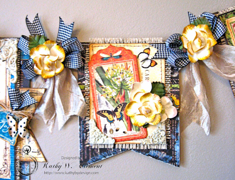 CHA Butterfly Banner, Nature Sketchbook, by Kathy Clement, Product by Petaloo and Graphic 45, Phioto 5