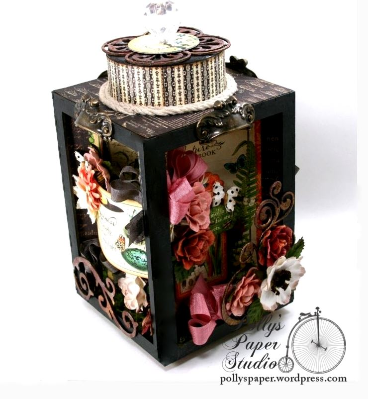 Natures Skethcbook Florals Spinning Shadow Box Display Polly's Paper Studio 02