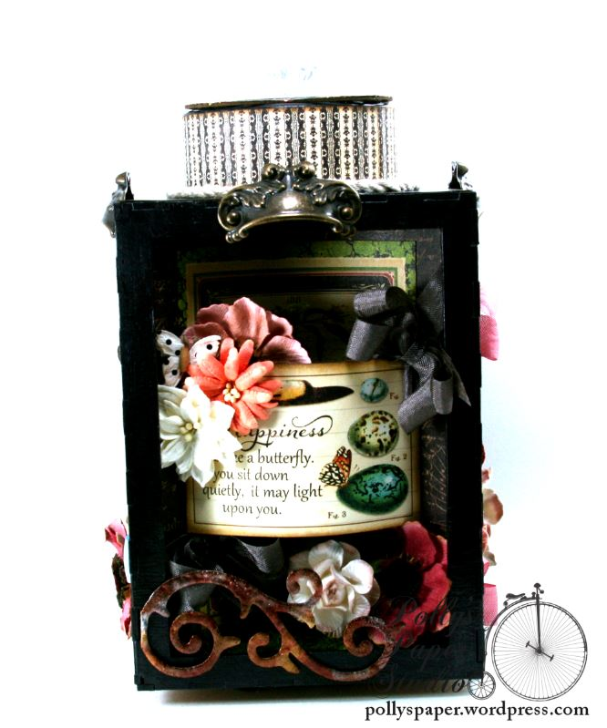 Natures Skethcbook Florals Spinning Shadow Box Display Polly's Paper Studio 04