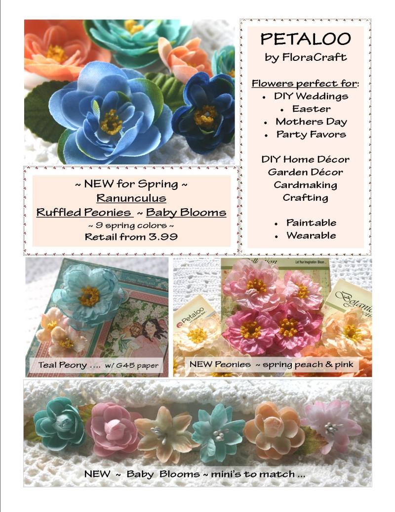 CONSUMER  Ruffled Peony Flowers  ~ SNEEK Peek SPRING  2017