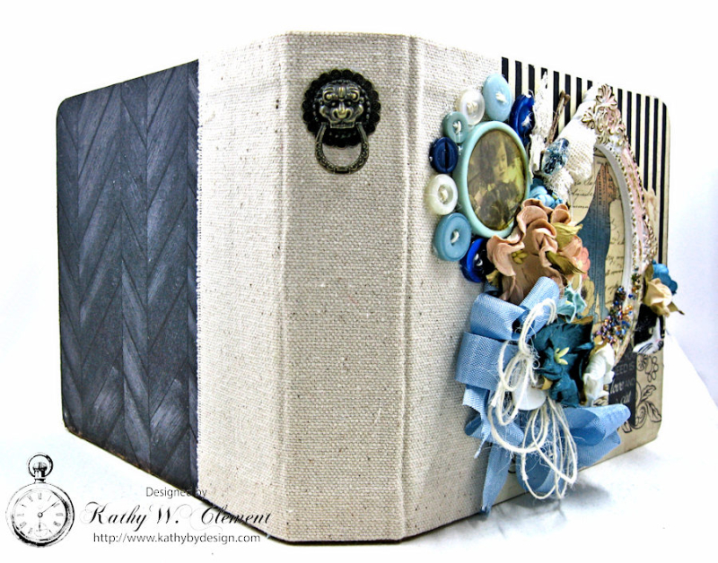 Shabby Chic Cat Mini Album by Kathy Clement Photo 6