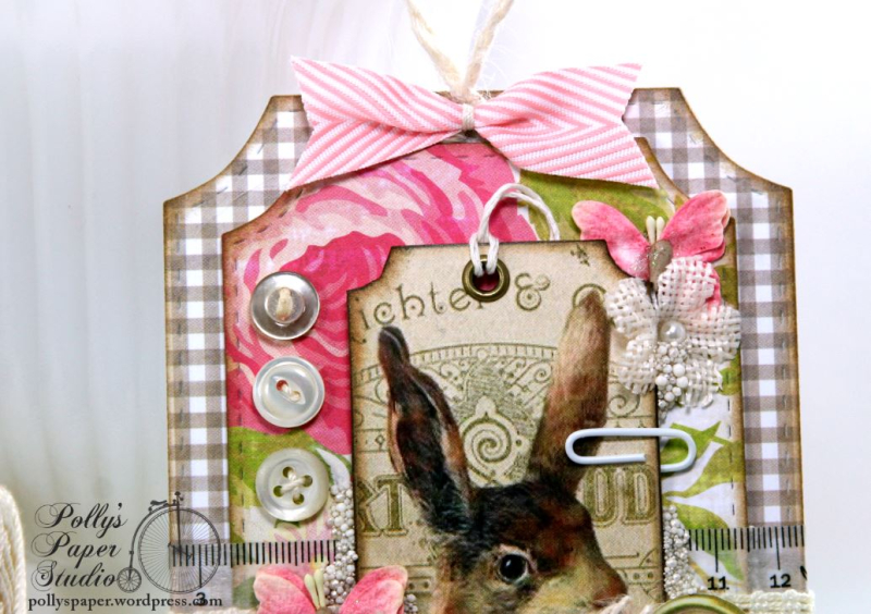 Easter Bunny Ticket Holiday Home Decor Tag Polly's Paper Studio 03