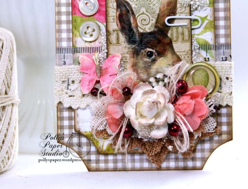 Easter Bunny Ticket Holiday Home Decor Tag Polly's Paper Studio 02