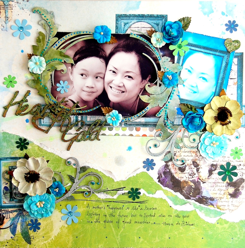 Heart Of Gold Layout by Irene Tan 01