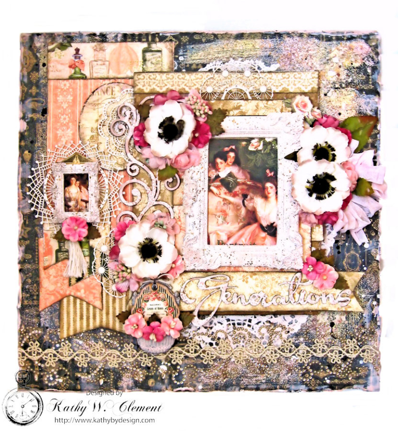 Generations Layout with Graphic 45 Portrait of a Lady by Kathy Clement for Petaloo International Photo 2