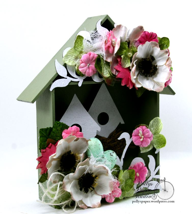 Spring  Birdhouse Shadow Box Polly's paper Studio 02