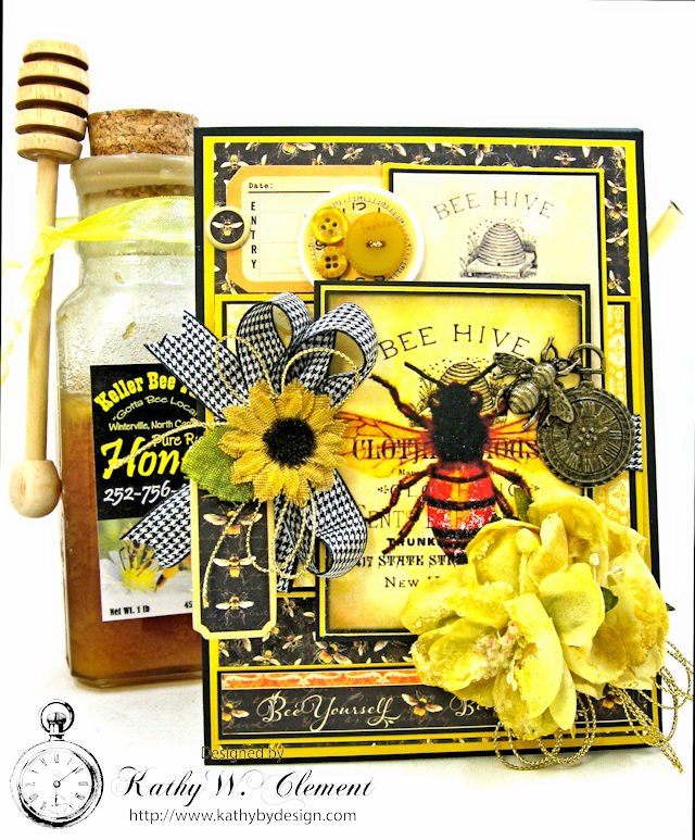 Bee Yourself Honeybee Greeting Card Nature Sketchbook by Kathy Clement Product by Graphic 45 Photo 1