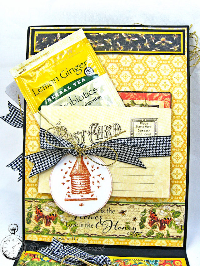 Bee Yourself Honeybee Greeting Card Nature Sketchbook by Kathy Clement Product by Graphic 45 Photo 6