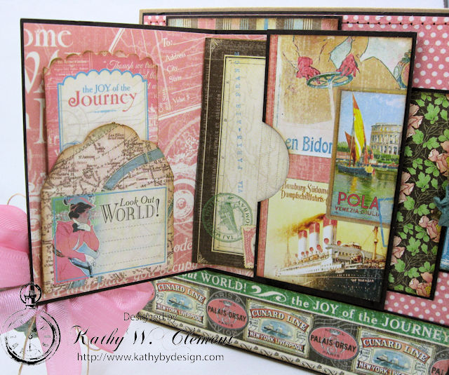 Look Out World Greeting Card with folios Come Away with Me by Kathy Clement Product by Graphic 45 Photo 5