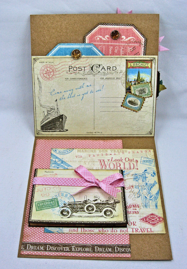 Look Out World Greeting Card with folios Come Away with Me by Kathy Clement Product by Graphic 45 Photo 6