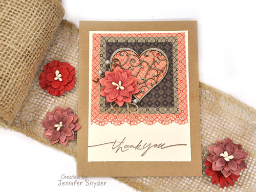 Jan small heart card