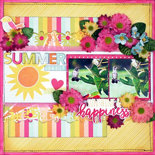 Summer LO, Simple Stories Petaloo blog hop 5-16 (1)