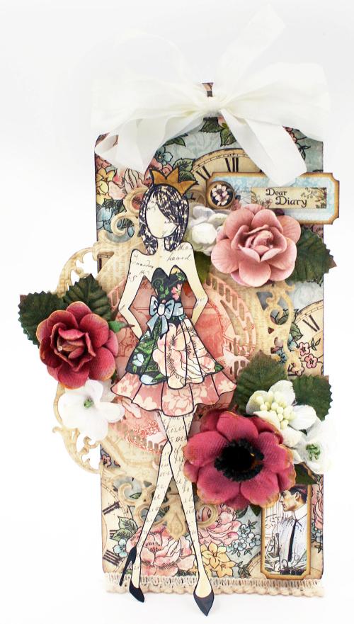 Tag, JN doll, Ladies Diary, Petaloo flowers, Maggi Harding Graphic 45 (2)